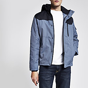 Jack and Jones – Gefütterte Jacke in Blau