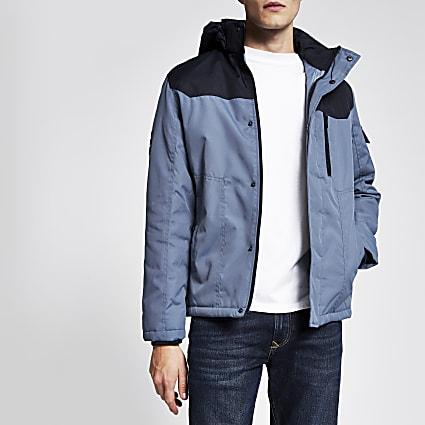Jack and Jones blue padded coat