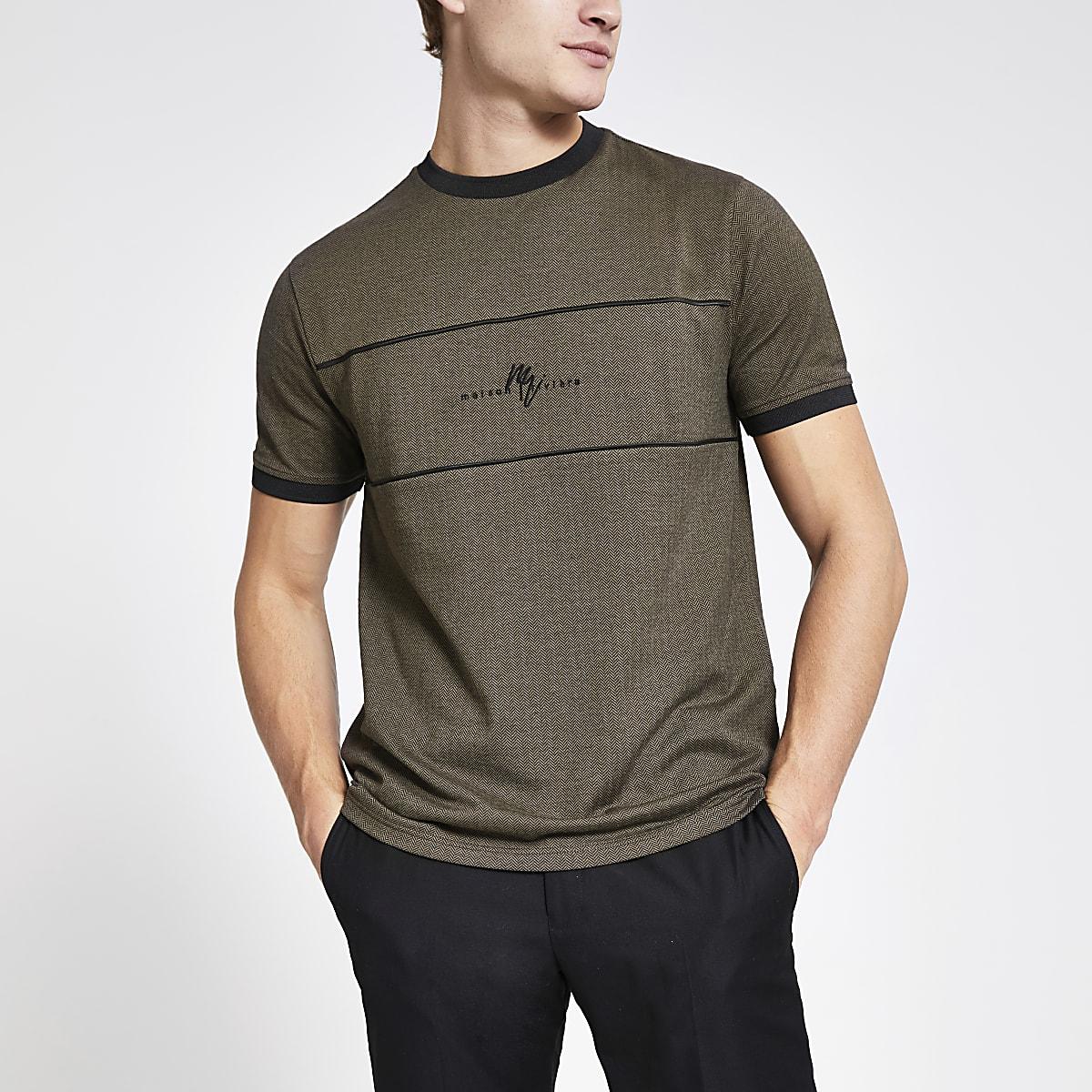 Khaki Maison Riviera slim fit T-shirt