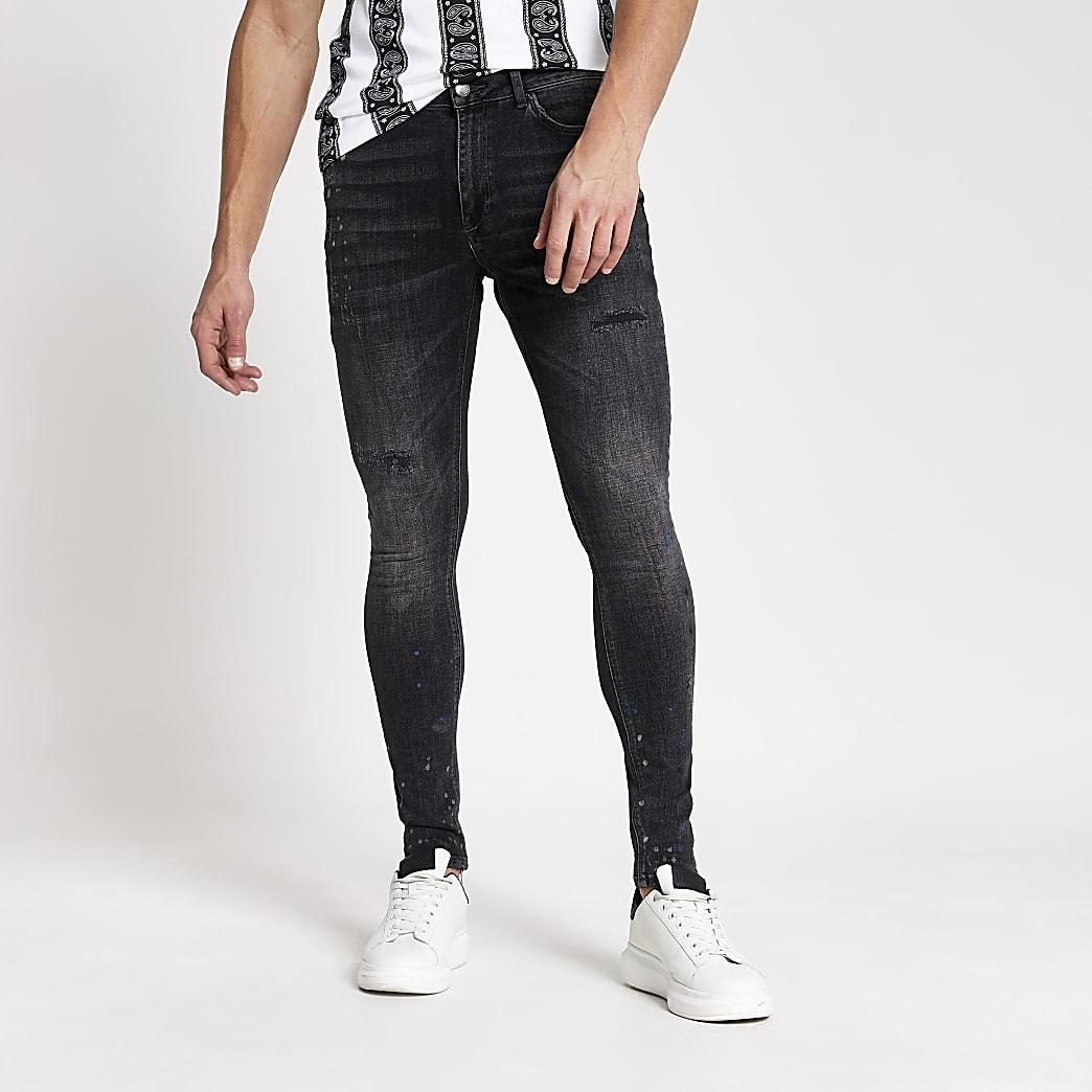 Smart Western – Schwarze Ollie Spray-on-Jeans