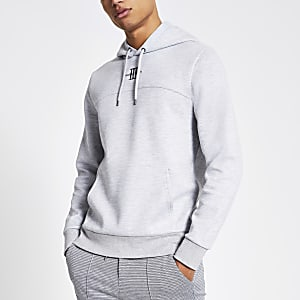 MaisonRiviera- Grijze slim-fit hoodie