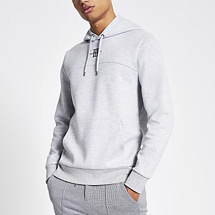 Grey Maison Riviera slim fit hoodie