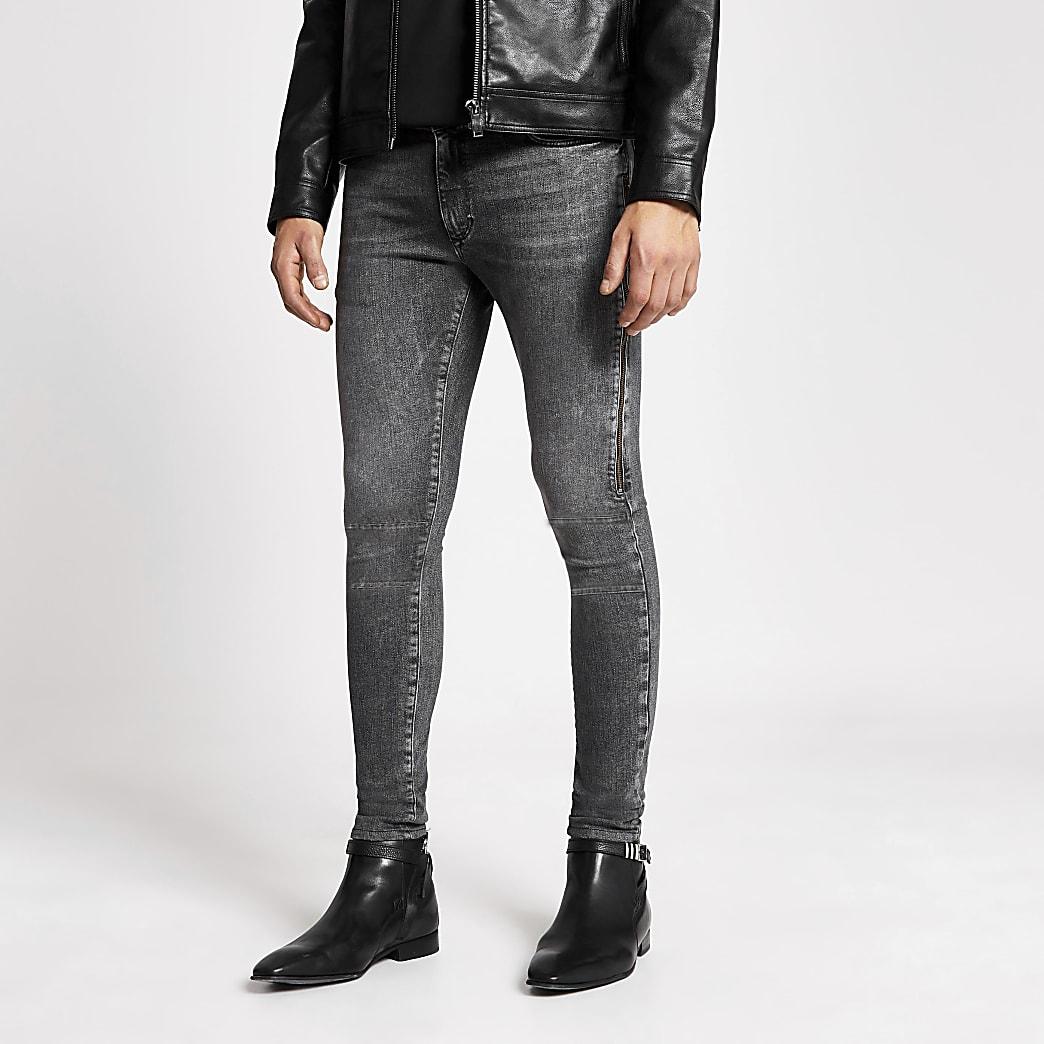 Smart Western - Ollie - Grijze spray-on jeans