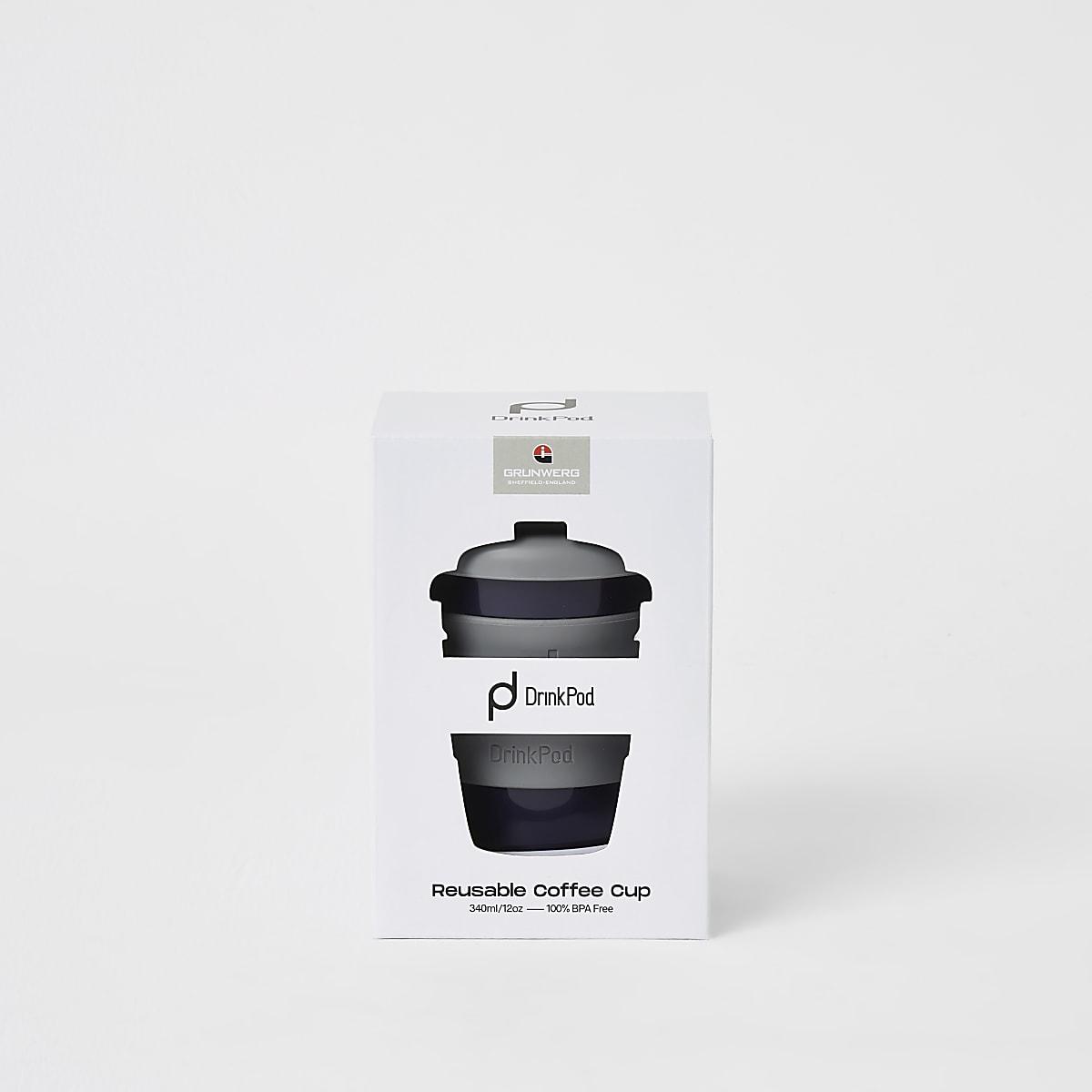 DrinkPod - Tasse à café réutilisable grise 12 oz