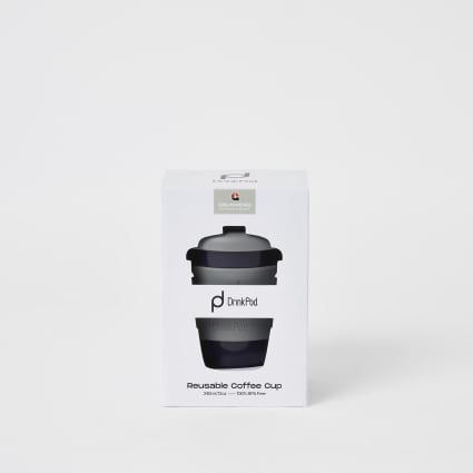 DrinkPod grey 12oz reusable coffee cup