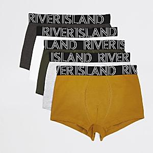 Set van 5 meerkleurige hipsters met RI-band