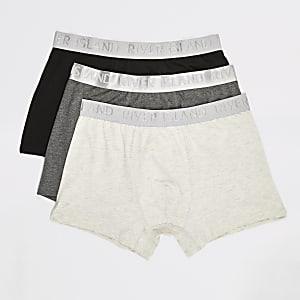 Grijze RI strakke boxers set van 3