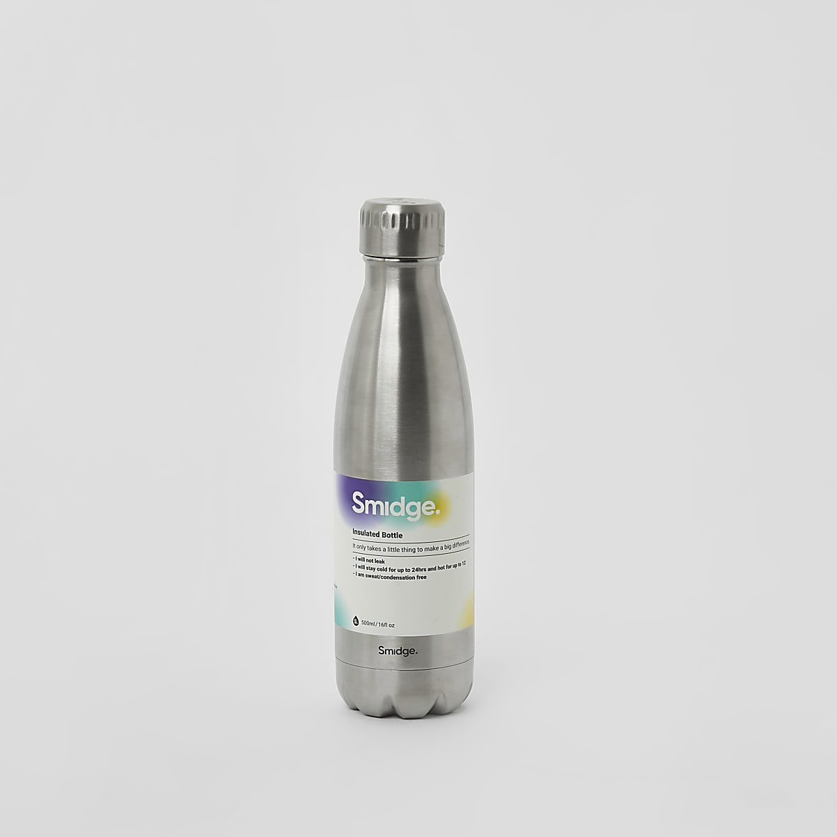 Smidge silver 16oz bottle