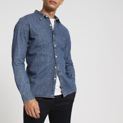 Levi's blue denim shirt