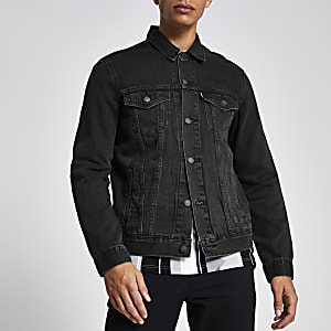 Levi's black denim trucker jacket