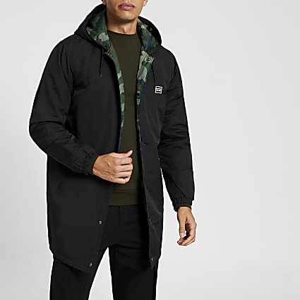 Levi's black hooded coach jacket