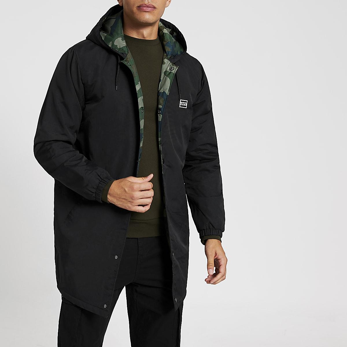 Levi's black hooded coach jacket