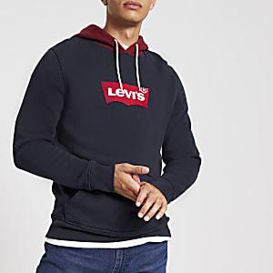 Levi's - Sweatà capuche bleu colour blockà logo