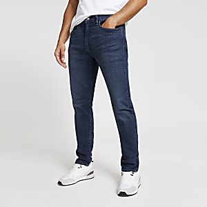Levi's - Donkerblauwe 512 slim-fit denim jeans