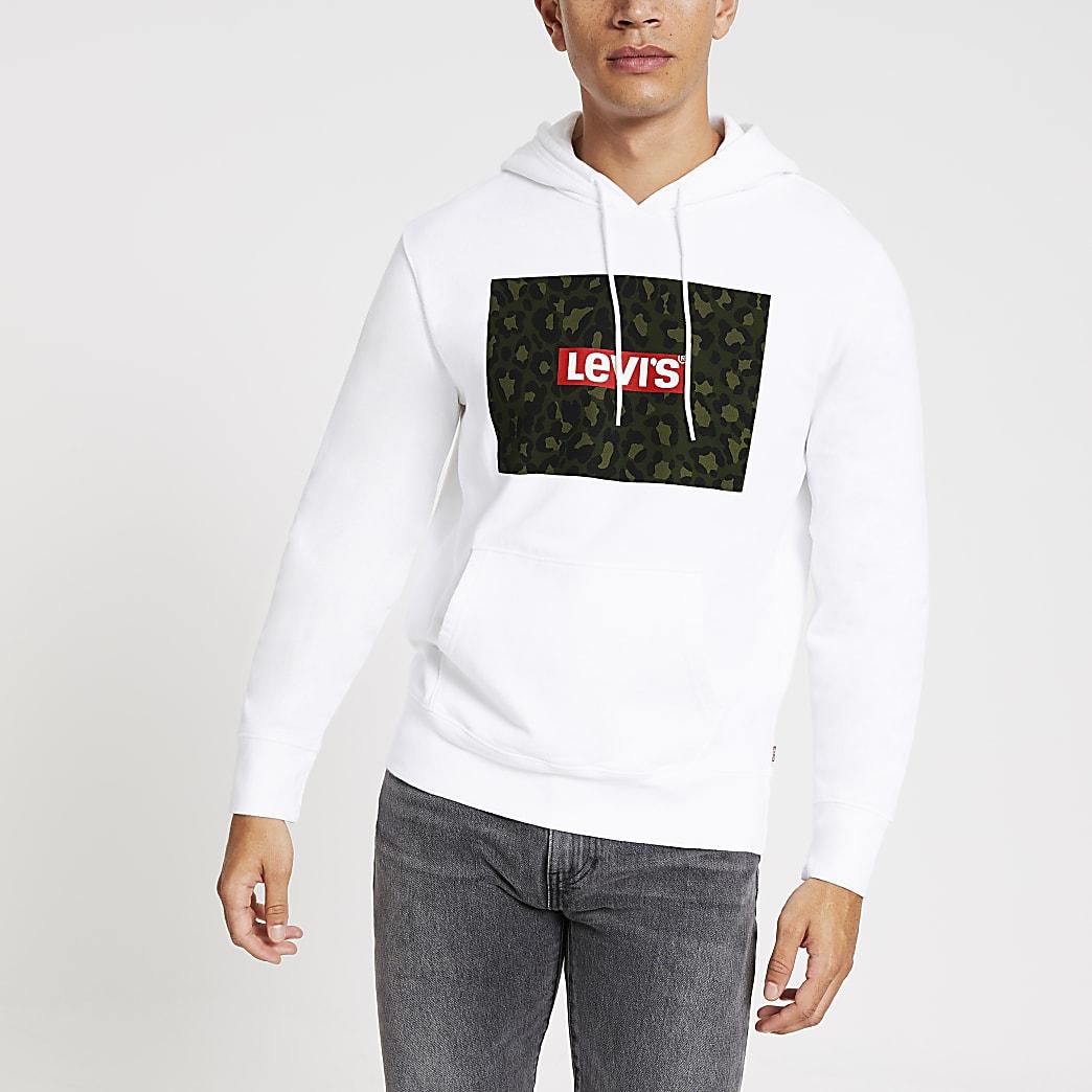Levi's white camo long sleeve hoodie
