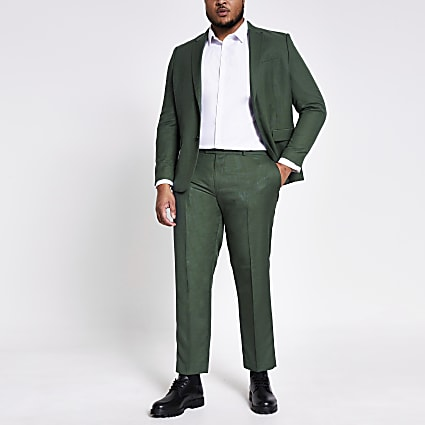Big and Tall green suit trousers