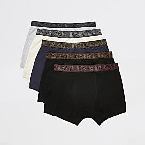 Lot de5 boxers longs RI grismétallisés