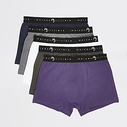Maison Riviera purple trunks 5 pack