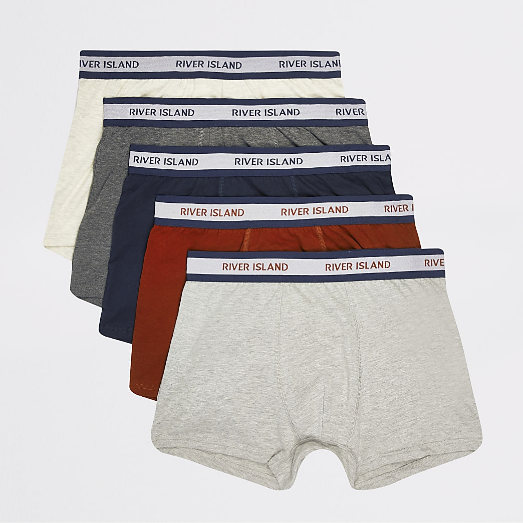 Multicoloured RI waistband trunk 5 pack