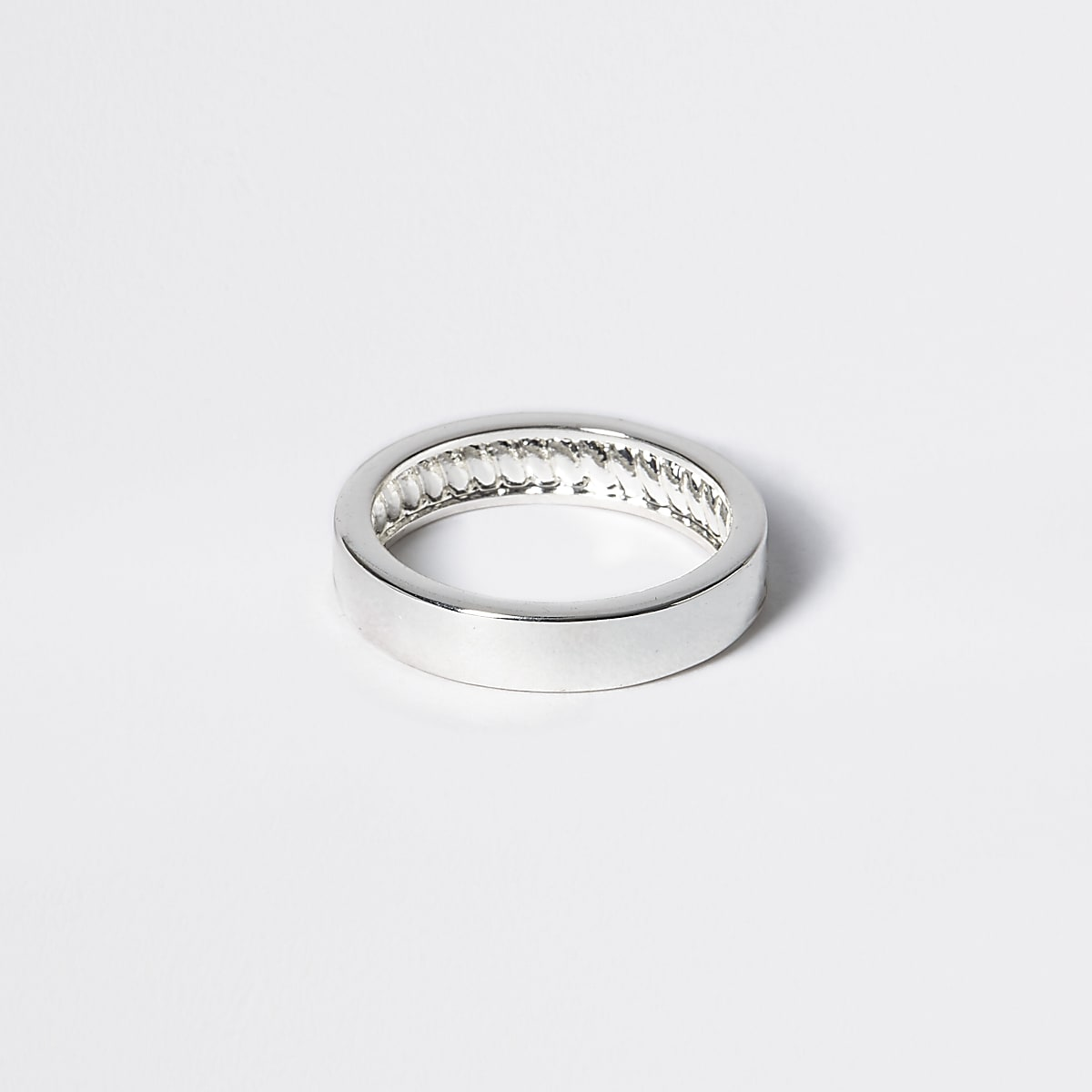 Studio silver plated band ring