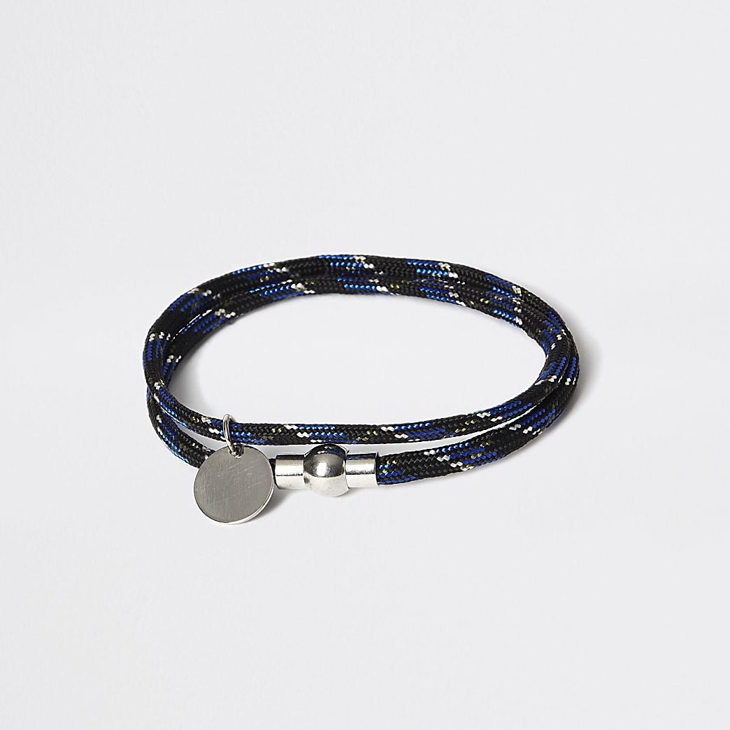 Black rope wrap bracelet