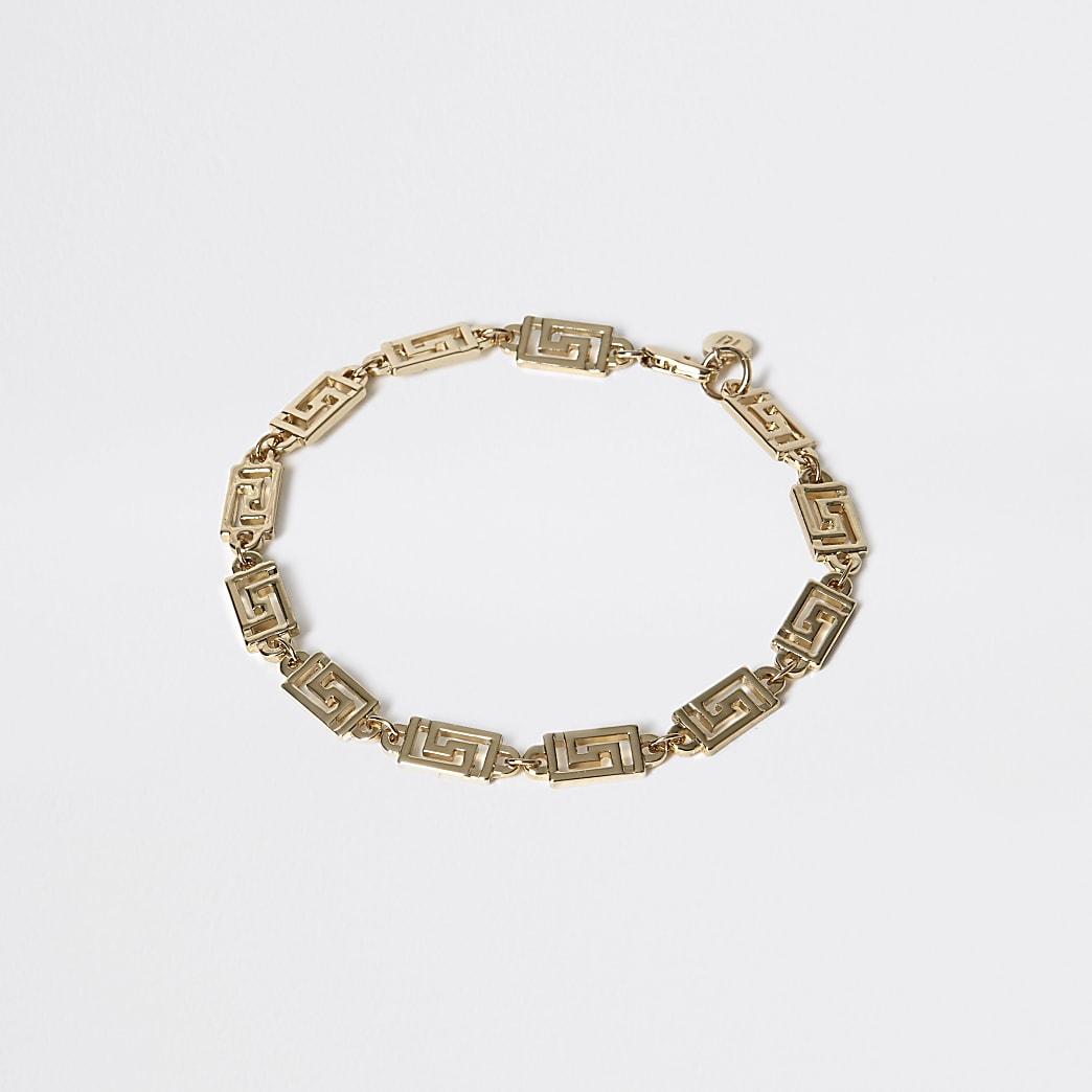 Gold colour geo bracelet