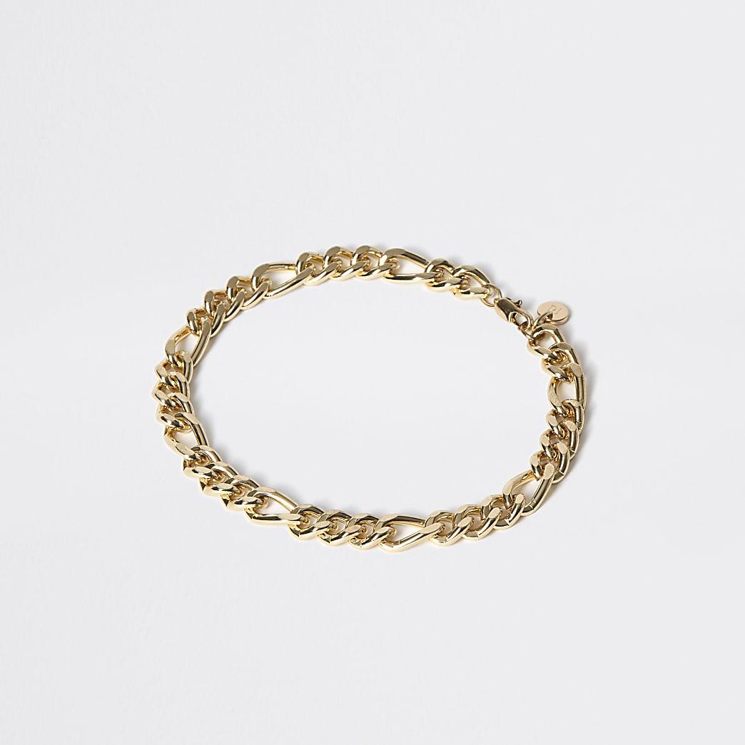 Gold colour chain link bracelet