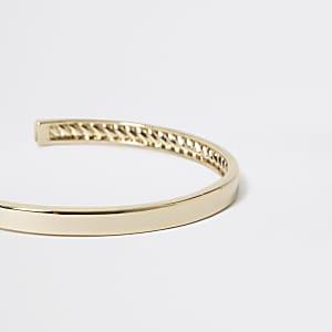 Studio - Goudkleurige vergulde brede armband