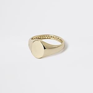 Studio - Chevalière plaquée or