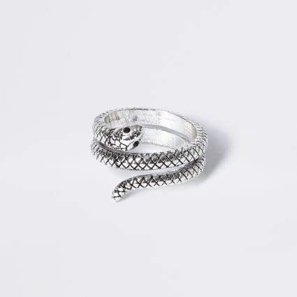 Silver colour snake wrap ring