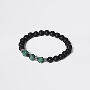 Bracelet en perles en pierre vert