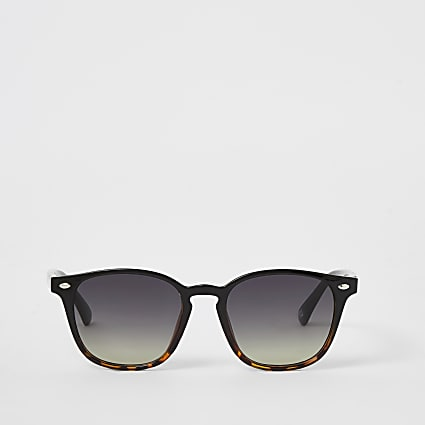 Black Tort Ombre Retro Sunglasses