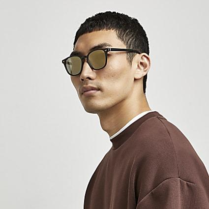 Black Gold Flash Slim Sunglasses