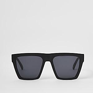 Matte Sonnenbrille in Schwarz mit D-Rahmen