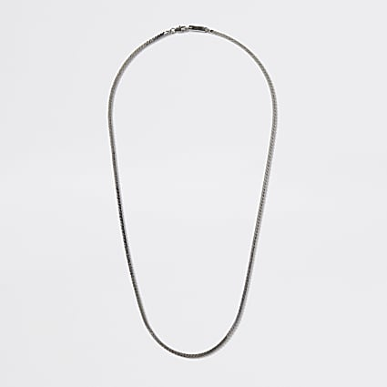 Silver colour snake chain necklace