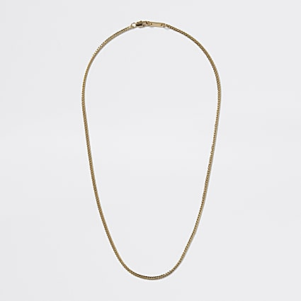 Gold colour snake chain necklace