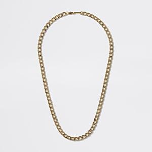 Goldfarbene Halskette mit Kette