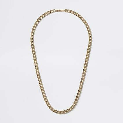 Gold colour chain necklace