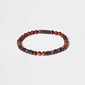 Bracelet en perles pierre rouges