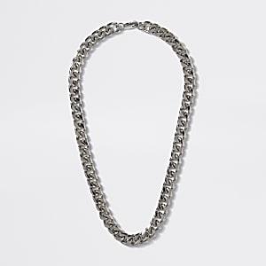Zilverkleurige stevige ketting