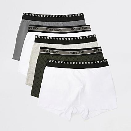 Khaki RI monogram trunks 5 pack