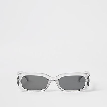 Grey rectangle shape sunglasses