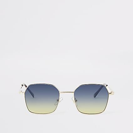 Gold hexagon sunglasses