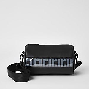 Schwarze RI-Mini-Reisetasche zum Umhängen