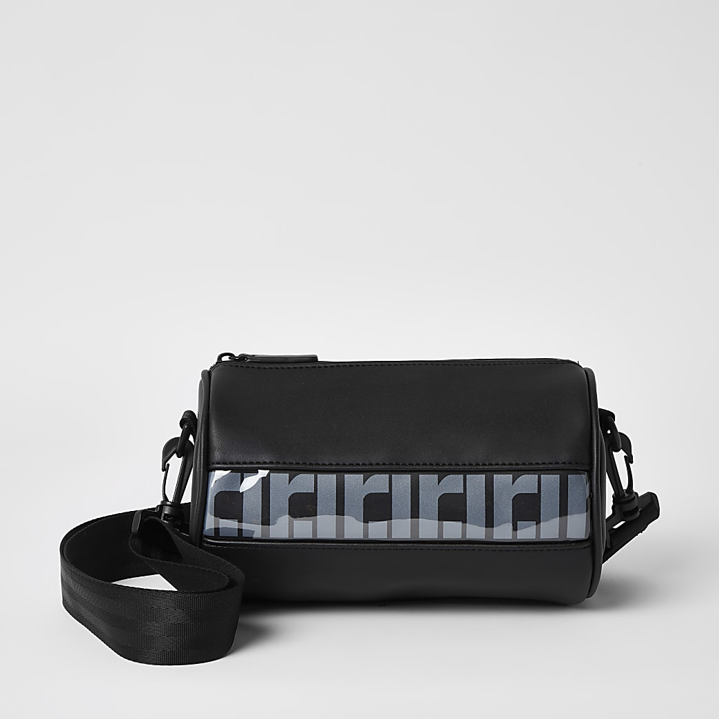 Black RI mini barrel cross body bag