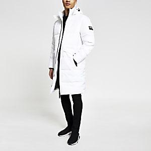 DVSN– Manteau matelassé long blanc