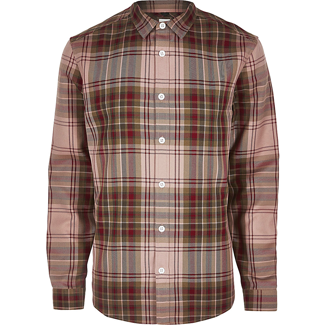 Big and Tall red check long sleeve shirt