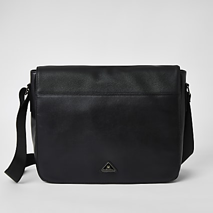 Black MCMLX fold over bag