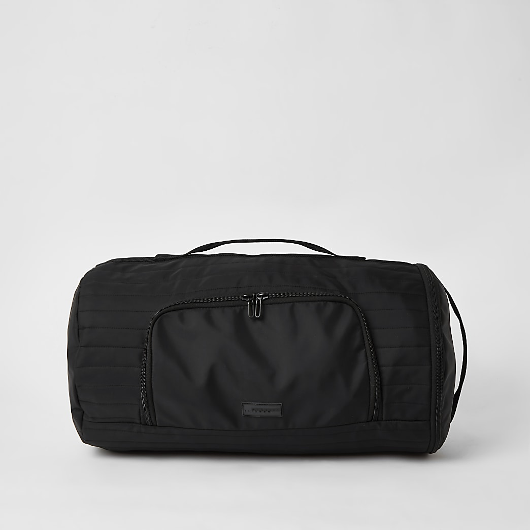 MCMLX black padded holdall backpack
