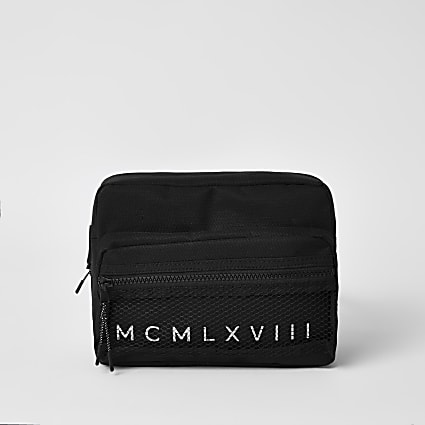 MCMLX black mesh cross body bag
